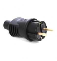 STECHER 16A 250V IP 44 NEGRU