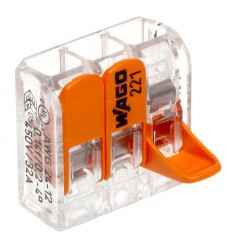 Conector slim rapid, cu parghie,pentru doza,3 intrari,32A, 0.2-4mm2 ,Wago